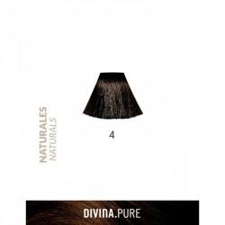 DIVINA PURE NATURALES   Nº 4 Castaño Oscuro